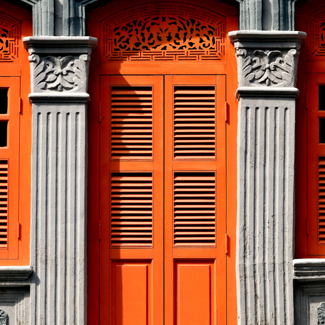 """Traditional Singapore Shop House"" stock image"