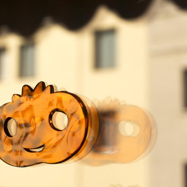 """Halloween party toy pumpkin"" stock image"