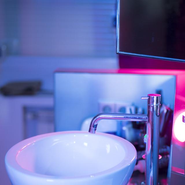 """""""Luxury hotel bathroom sink"""" stock image"""