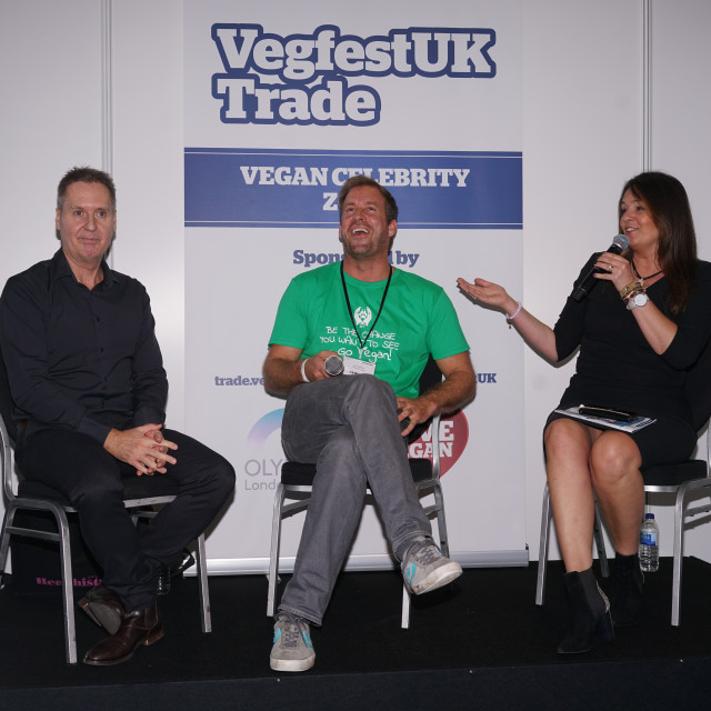 """The First VegfestUK Trade at Olympia London, UK"" stock image"