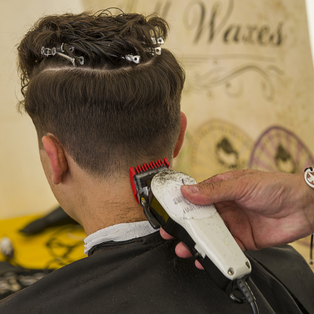 """Hair cutting"" stock image"