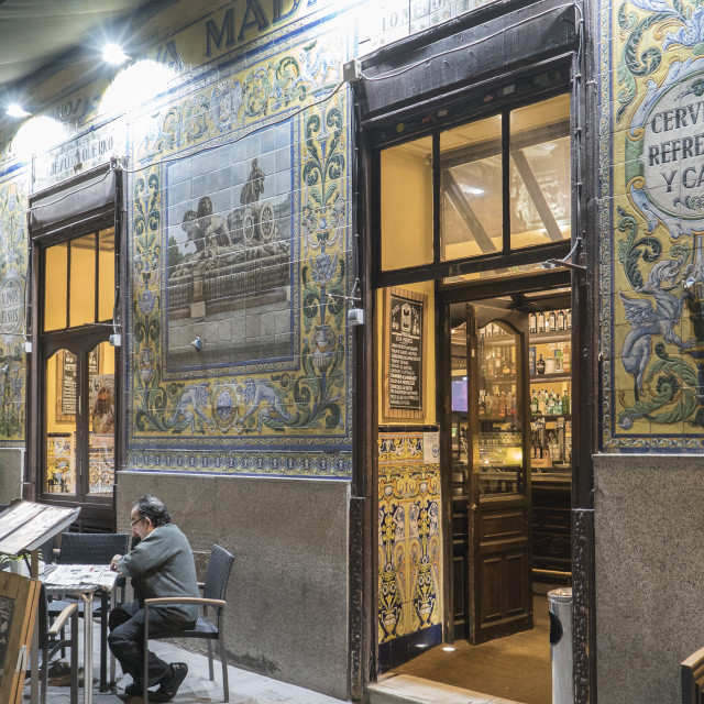 """historic bar Viva Madrid"" stock image"