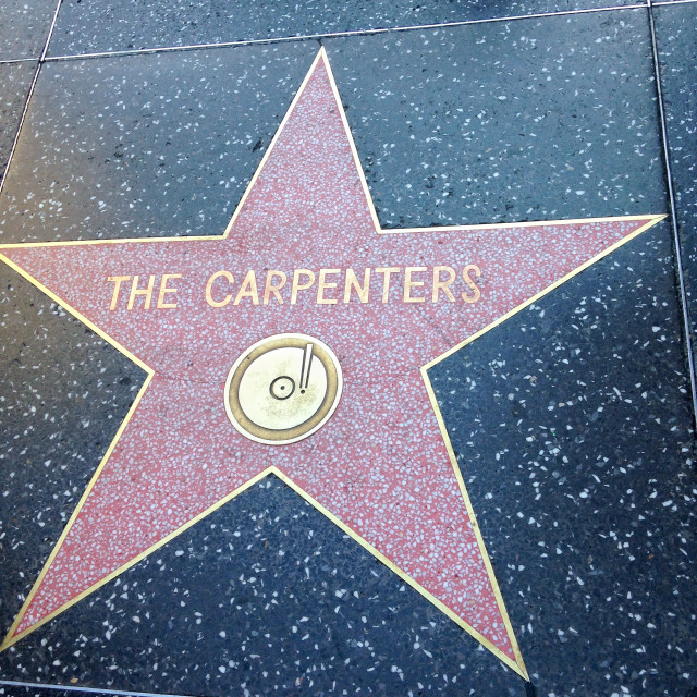 """""""The Carpenters Hollywood walk of fame star."""" stock image"""