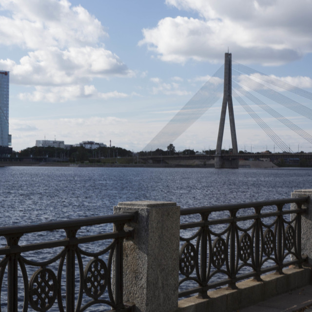 """Daugava Ufer in Riga"" stock image"