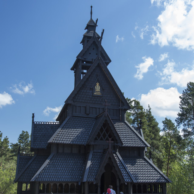 """Norwegian Open Air Museum"" stock image"