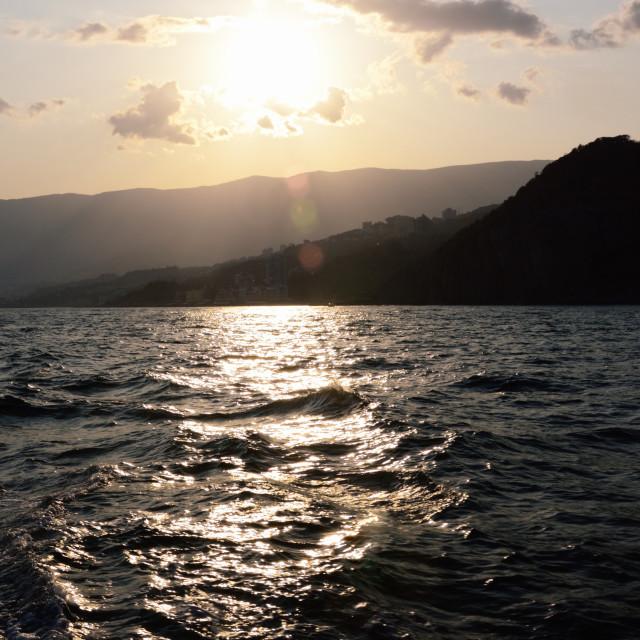 """Crimean Seacoast near Yalta in Twilight"" stock image"