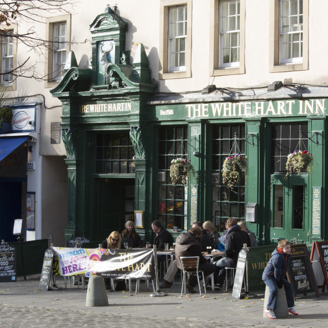 """Grassmarket in Edinburgh"" stock image"