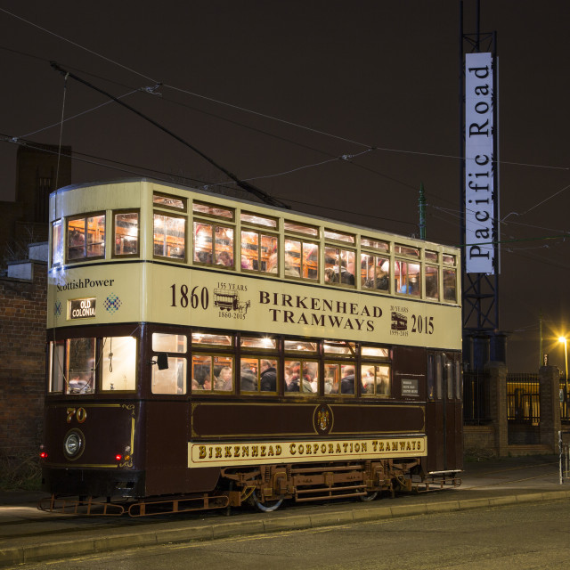 """Birkenhead Corporation Tramways"" stock image"