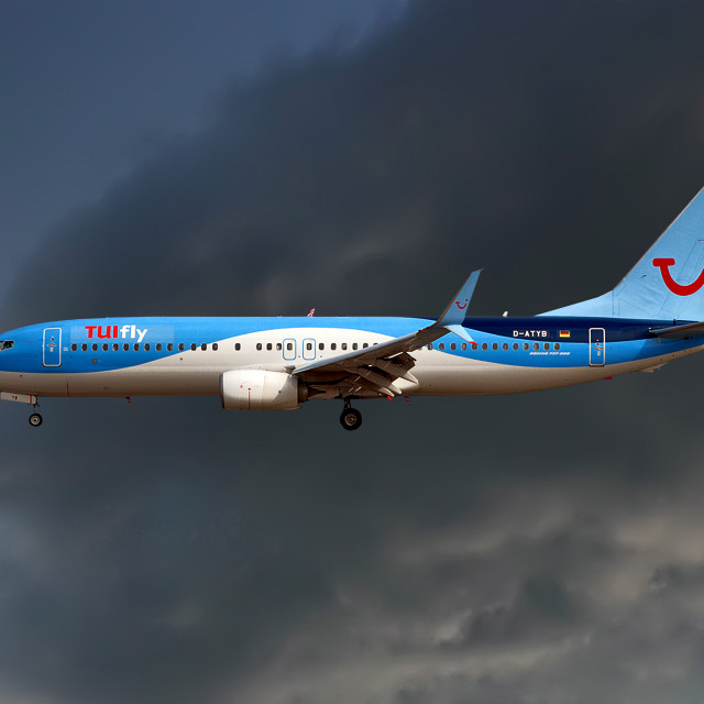 """""""TUI Fly Boeing 737-8K5"""" stock image"""