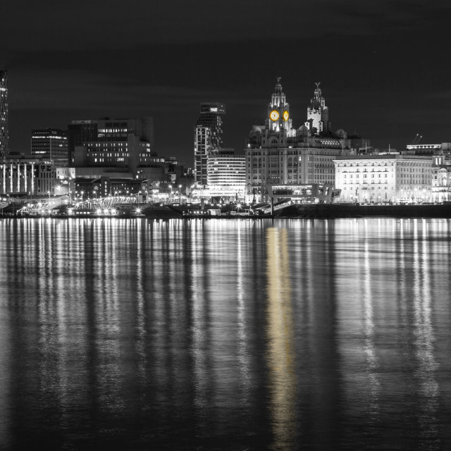 """Liverpool Waterfront Selective Colour"" stock image"