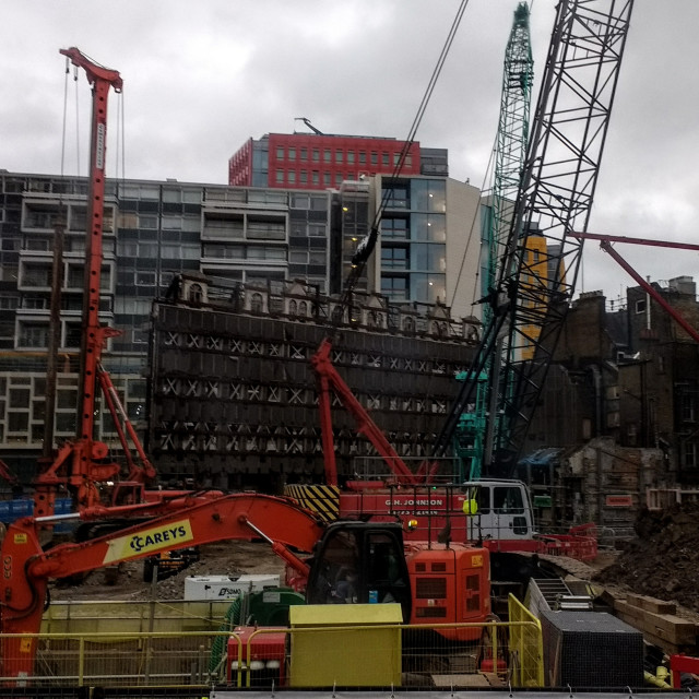 """Crossrail, Tottenham Court Road, London"" stock image"