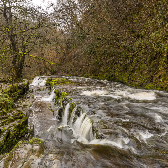 """Water Falls-Wales"" stock image"