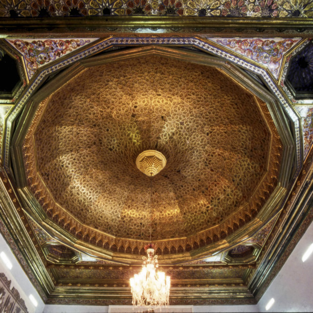 """""""Ceiling of the Sousse Room in The Bardo Museum, Tunis, Tunisia"""" stock image"""