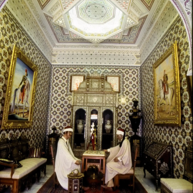 """""""Tunisia. North Africa. Inside the Dar Charait Musuem. Tozeur"""" stock image"""