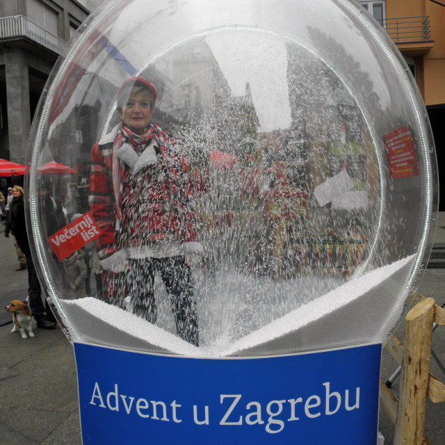 """Advent in Zagreb,details,16"" stock image"