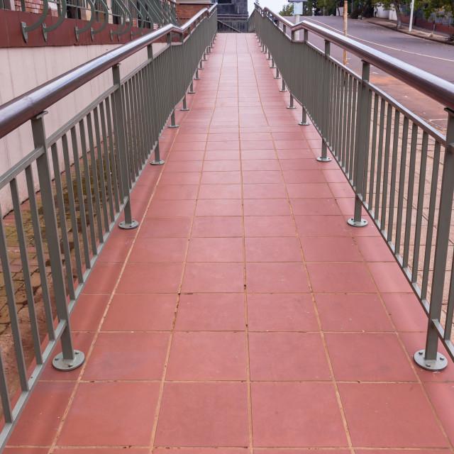 """Public Walk Entrance Ramp"" stock image"