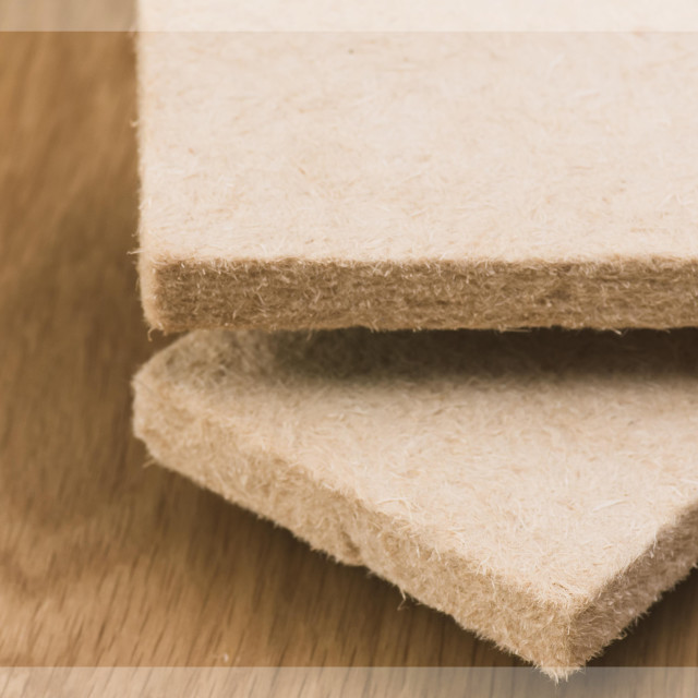"""compressed thermal insulating hemp fiber panels"" stock image"