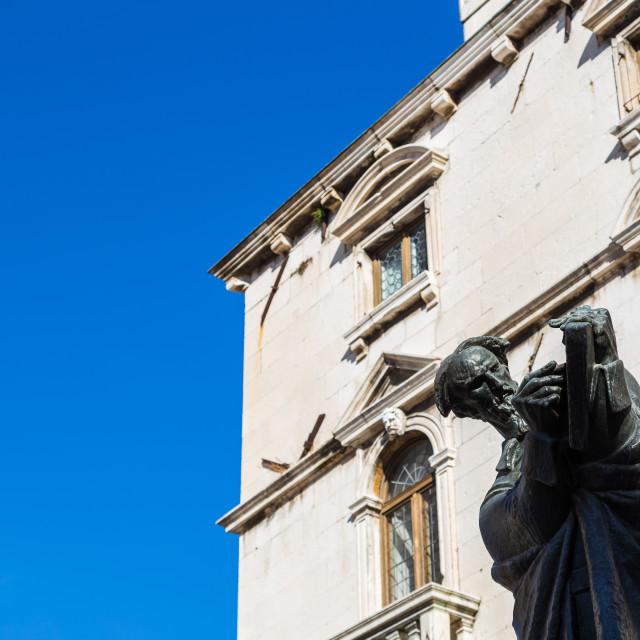 """Statue of Marko Marulic"" stock image"