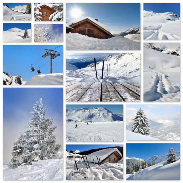 """""""winter holidays collage"""" stock image"""