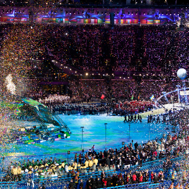 """Opening Night Celebrations London 2012 Paralympic Games"" stock image"