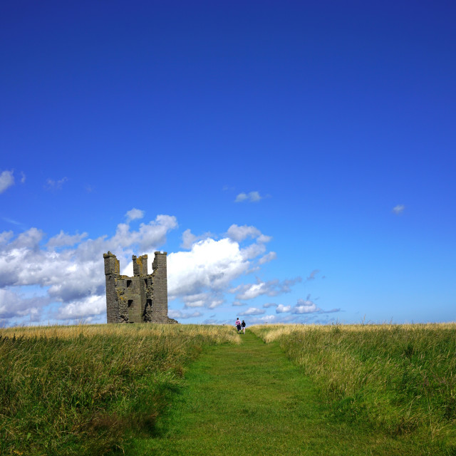"""Dunstanburgh Castle, Northumberland"" stock image"