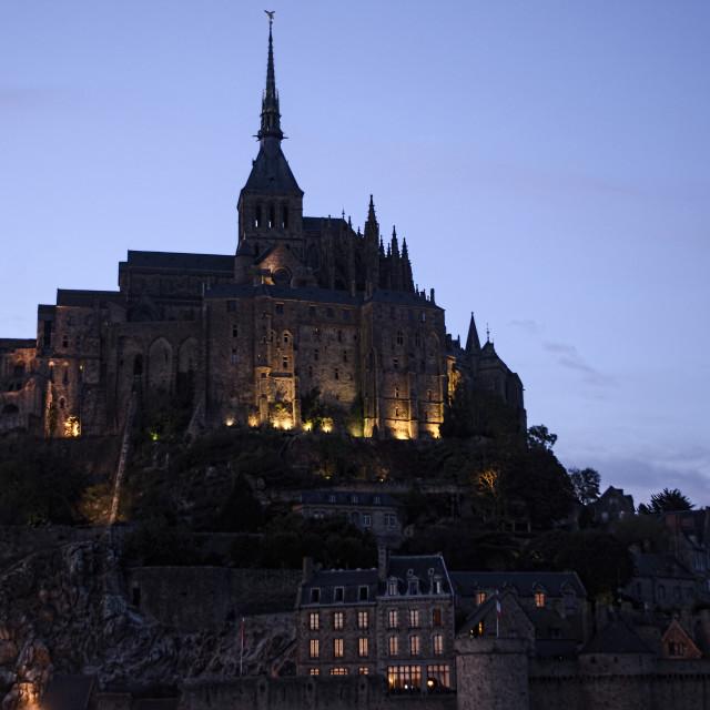 """Mont-St-Michelle"" stock image"