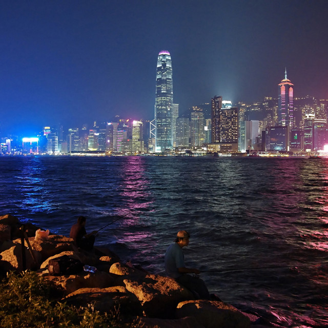 """Victoria Harbour, Hong Kong"" stock image"