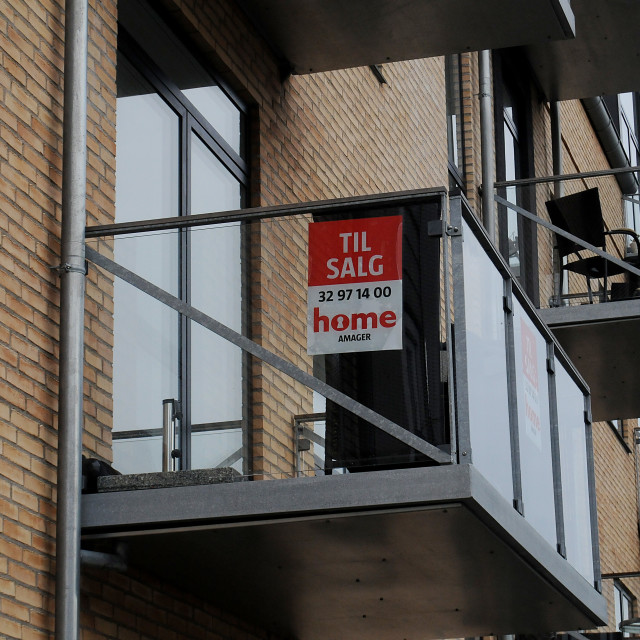 """""""CONDOS AND HOME SALE IN DENMARK"""" stock image"""