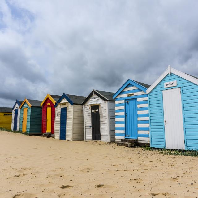 """""""Southwold Beach Huts."""" stock image"""