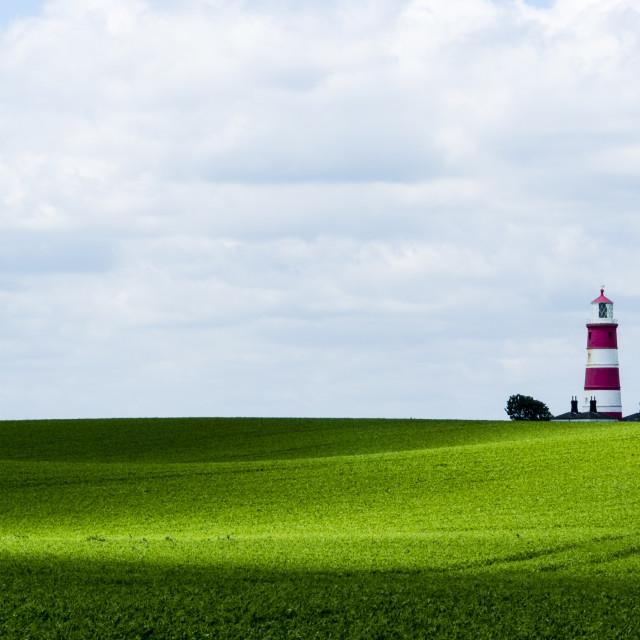 """Happisburgh Lighthouse Panorama."" stock image"