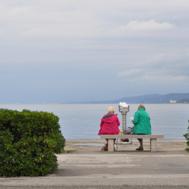 """On the waterfront of Trieste"" stock image"