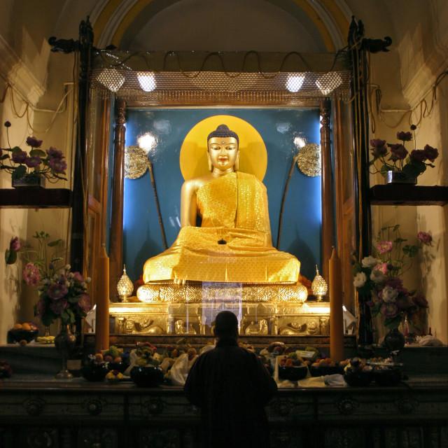 """Buddha, Maha Bodhi Temple, Bodh Gaya, India"" stock image"