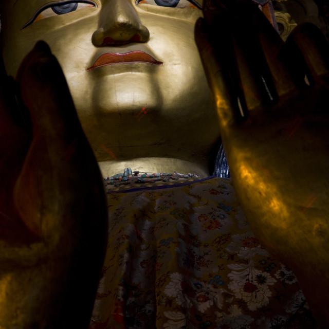 """""""Maitreya Buddha, Basco, Ladahk, India"""" stock image"""