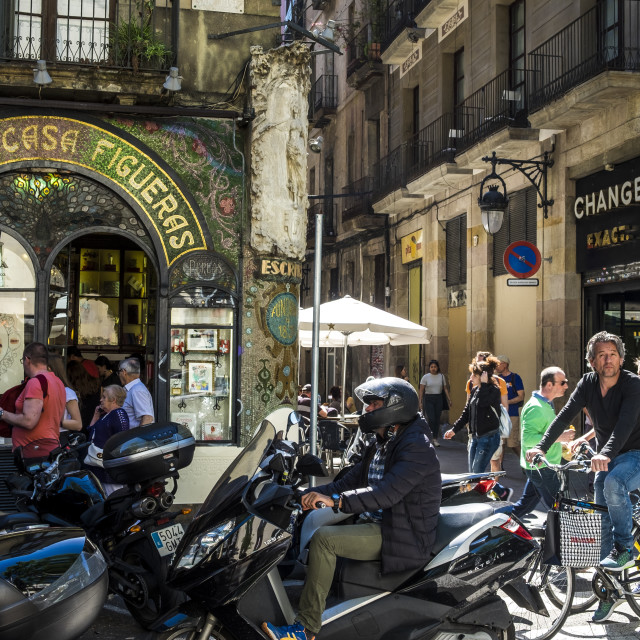 """""""Ramblas, one of the most important landmark in the capital of Ca"""" stock image"""