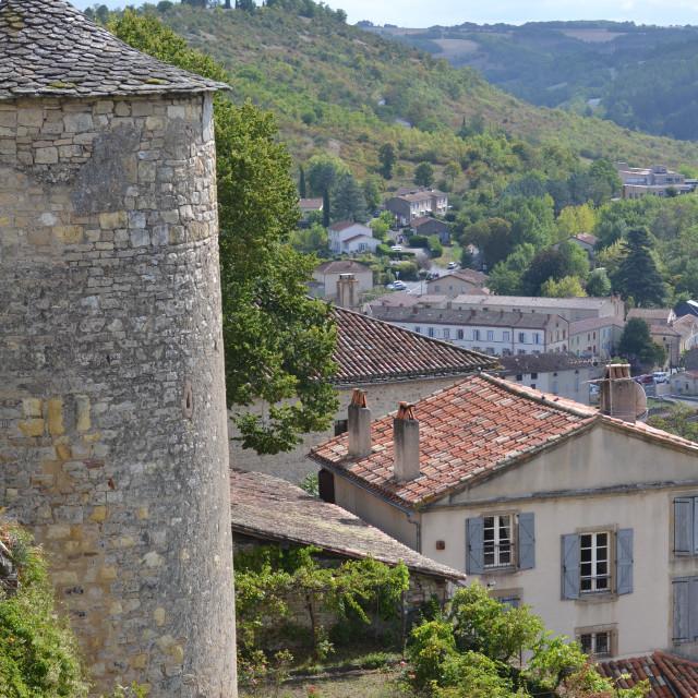 """""""Cordes-sur-Ciel"""" stock image"""