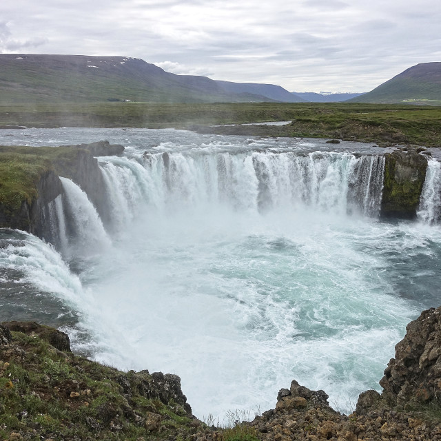 """Godafoss waterfall, Iceland"" stock image"