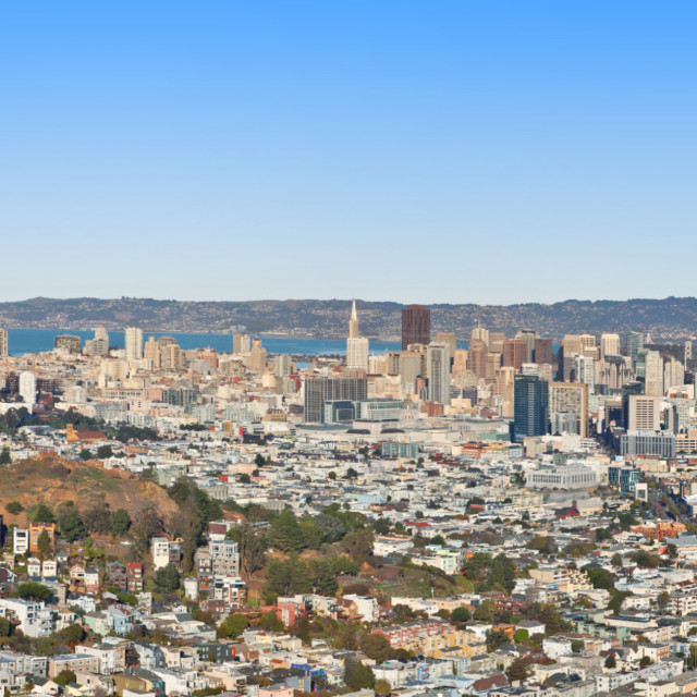 """Across the Bay of San Francisco"" stock image"