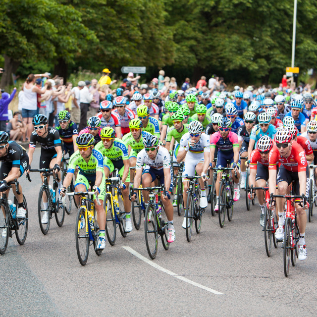 """Tour de France in South Woodford"" stock image"