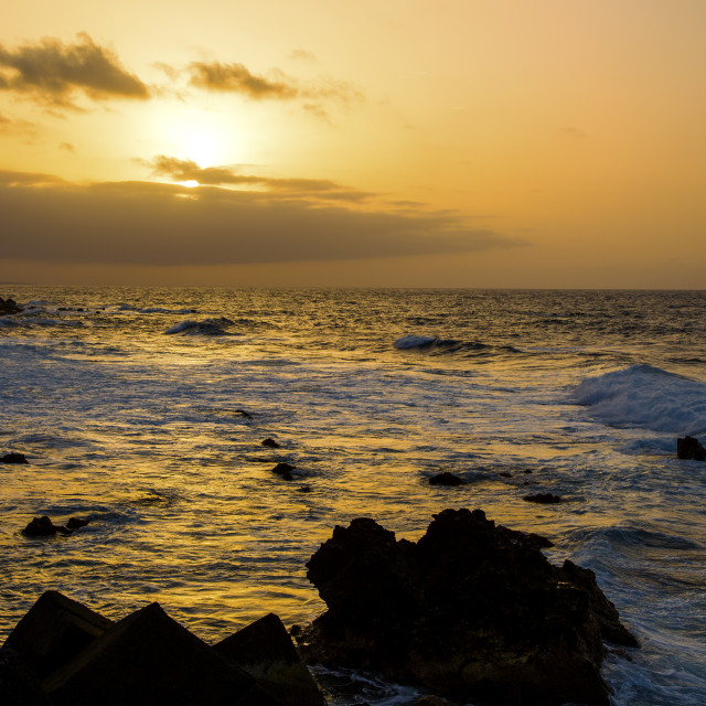"""Tenerife Sun-set"" stock image"
