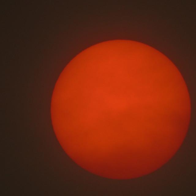 """Red Sun"" stock image"