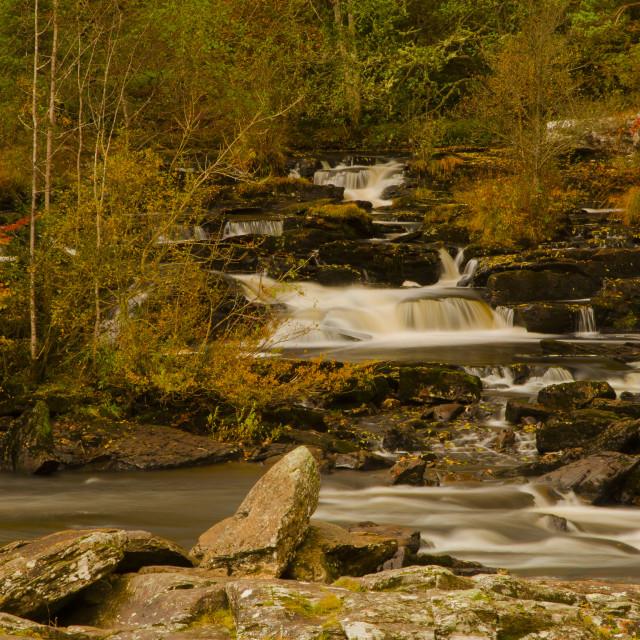 """Falls of Dochart"" stock image"