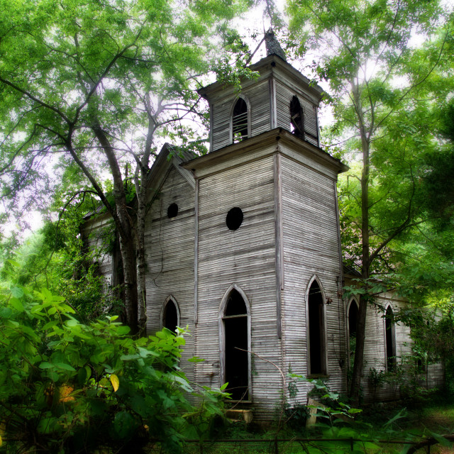 """The Abandoned Church"" stock image"