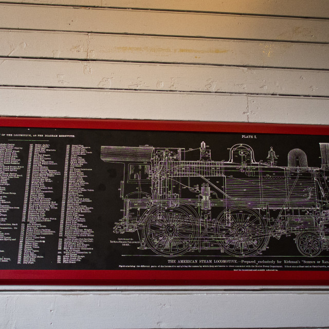 """Locomotive Diagram"" stock image"