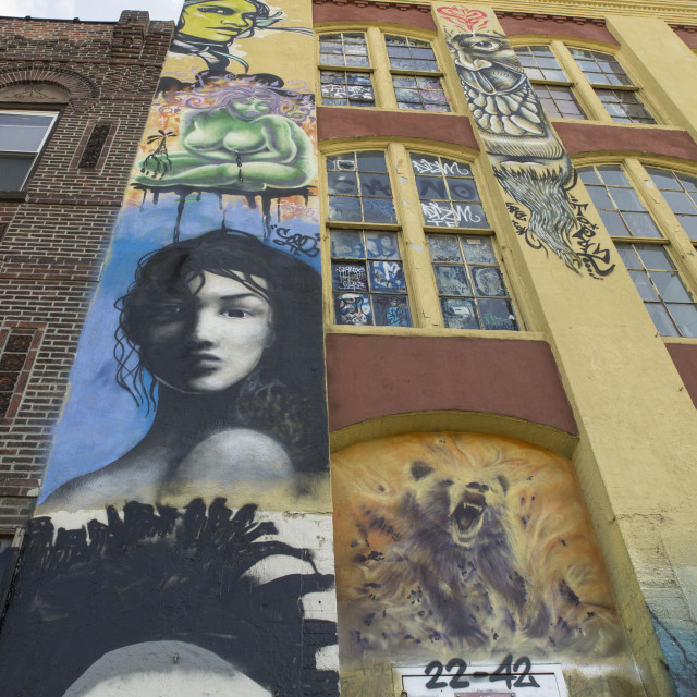 """5 POINTZ Murals"" stock image"