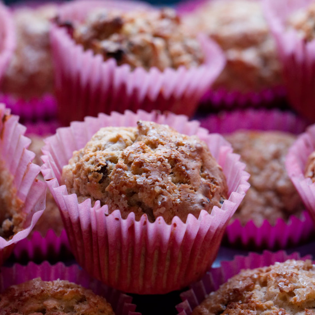 """""""Apple and Sultana Muffins"""" stock image"""