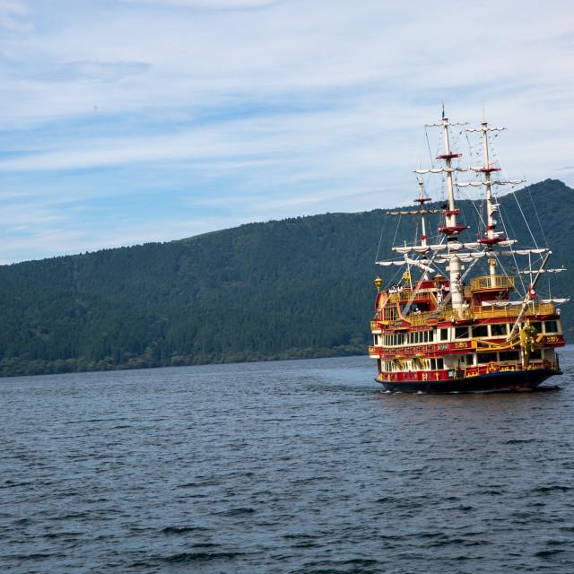 """Hakone pirate ship"" stock image"