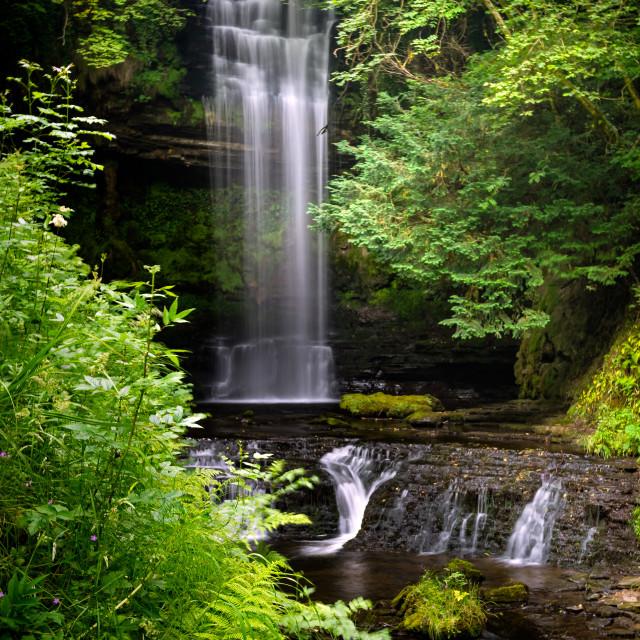 """Glencar Waterfall"" stock image"