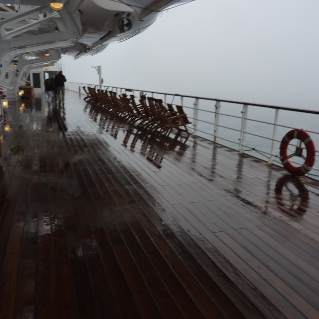 """a stormy TransAtlantic crossing"" stock image"