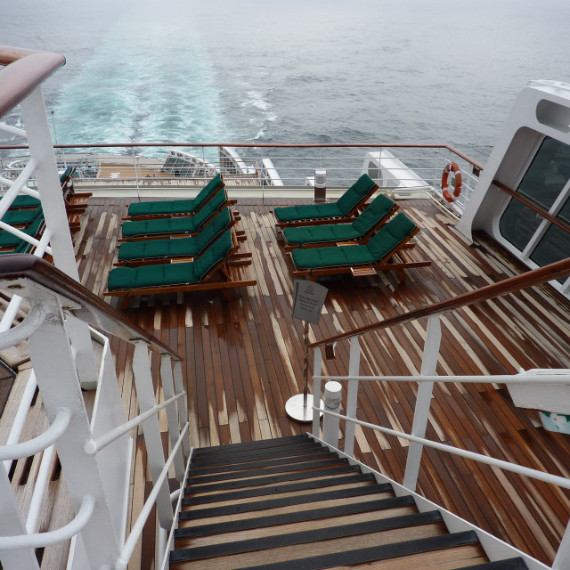 """""""On board Queen Mary 2"""" stock image"""