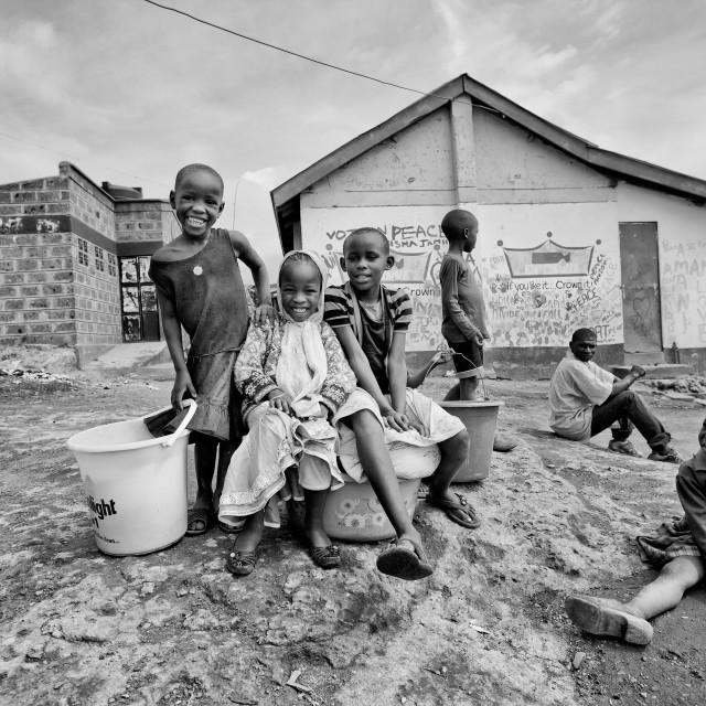 """Kibera Kids"" stock image"